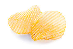 Primer de las patatas fritas aislado Fotos de archivo
