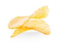 Primer de las patatas fritas aislado Foto de archivo libre de regalías