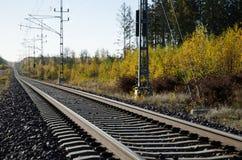 Primer de las pistas de ferrocarril Fotografía de archivo