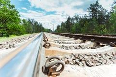 Primer de las pistas de ferrocarril Foto de archivo