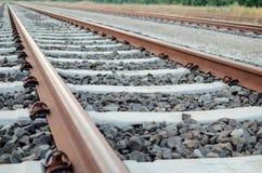 Primer de las pistas ferroviarias Imagenes de archivo