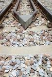 Primer de las pistas ferroviarias Utilizado en el transporte foto de archivo