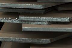 Primer de las placas de acero Imagen de archivo libre de regalías