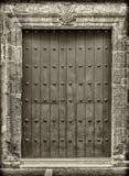 Primer de las puertas viejas Cartagena, Colombia fotografía de archivo libre de regalías