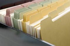 Primer de las tarjetas de índice Imagen de archivo libre de regalías