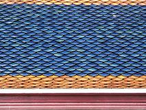 Primer de las tejas de tejado Imágenes de archivo libres de regalías