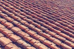 Primer de las tejas de tejado Fotografía de archivo
