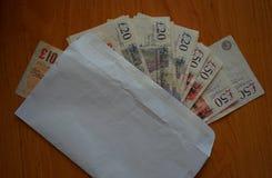 Primer de libras británicas imágenes de archivo libres de regalías