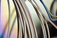 Primer de los alambres del cable eléctrico de la comunicación imágenes de archivo libres de regalías