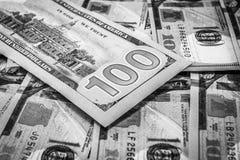 Primer de los billetes de dólar Foto de archivo libre de regalías