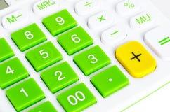 Primer de los botones de la calculadora Imagenes de archivo