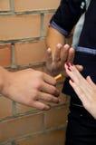 Primer de los cigarrillos de la parada Fotografía de archivo