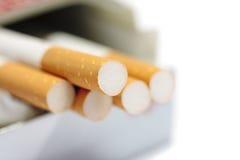 Caja de cigarrillos Imágenes de archivo libres de regalías