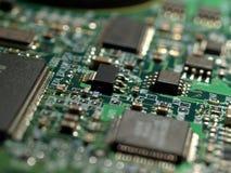 Primer de los circuitos del disco duro Imagen de archivo libre de regalías