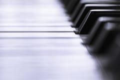 Primer de los claves del piano Imagen de archivo libre de regalías