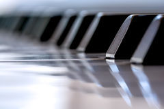 Primer de los claves del piano Fotos de archivo libres de regalías