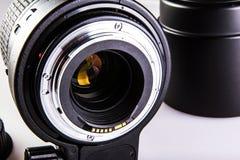 Primer de los contactos de la lente de cámara imágenes de archivo libres de regalías