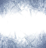 Primer de los cristales de hielo Fotografía de archivo