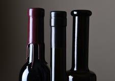 Primer de los cuellos de la botella de vino Imagen de archivo libre de regalías