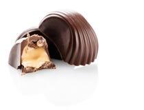 Primer de los dulces del chocolate Fotografía de archivo