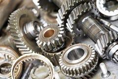 Primer de los engranajes del motor de automóvil Imagen de archivo libre de regalías