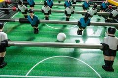 Primer de los futbolistas de la tabla del fútbol Fotografía de archivo
