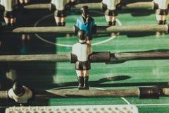 Primer de los futbolistas de la tabla del fútbol Imagen de archivo libre de regalías