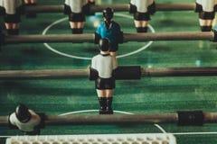Primer de los futbolistas de la tabla del fútbol Imágenes de archivo libres de regalías