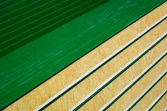 Primer de los nuevos paneles de bocadillo modernos foto de archivo