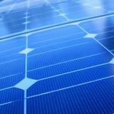 Primer de los paneles solares imágenes de archivo libres de regalías