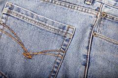 Primer de los pantalones vaqueros Imagen de archivo