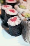Primer de los rollos de sushi Imagen de archivo libre de regalías