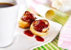 Primer de los soplos deliciosos para el desayuno Foto de archivo libre de regalías