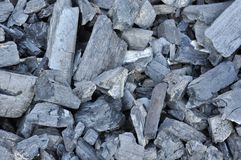 Primer de los terrones del carbón Imagenes de archivo