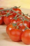 Primer de los tomates de cereza Imagen de archivo libre de regalías