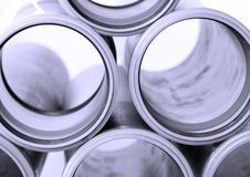 Primer de los tubos de alcantarilla Imagenes de archivo