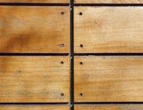 Primer de madera clavado de los tablones Foto de archivo