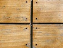 Primer de madera clavado de los tablones Imágenes de archivo libres de regalías