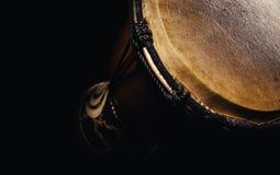 Primer de madera de Djembe Fotografía de archivo libre de regalías