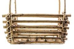 Primer de madera de la cesta fotos de archivo