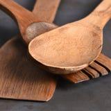 Primer de madera de los utensilios Imagenes de archivo