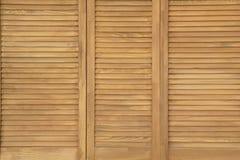 Primer de madera del fondo de la pared del panel de la textura Imágenes de archivo libres de regalías