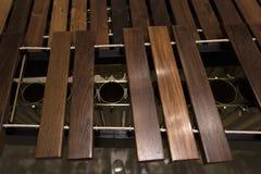 Primer de madera moderno del marimba foto de archivo libre de regalías