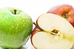Primer de manzanas muy frescas Fotos de archivo