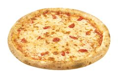 Primer de Margarita de la pizza aislado en el fondo blanco fotos de archivo libres de regalías