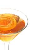 Primer de A Martini anaranjado chispeante Foto de archivo