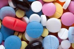 Primer de medicamentos multicolores Foto de archivo
