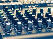Primer de mezcla de los botones de la consola Fotografía de archivo