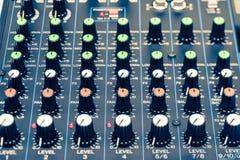 Primer de mezcla de los botones de la consola Foto de archivo libre de regalías