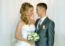 Primer de novia y del novio Foto de archivo libre de regalías